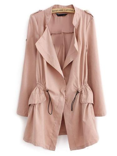 Stylish With Flap Pockets Trench-Coats