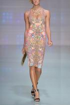 Sexy V Collar Off Shoulder Floral Printed Bodycon Dress