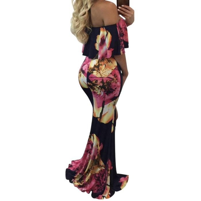 Off Shoulder Fishtail Mopping Bodycon Dresses
