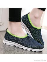 Geometric Flat Round Toe Casual Sport Sneakers