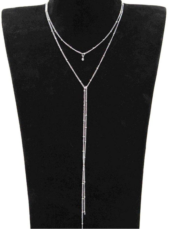 Geometric Metal Long Necklaces