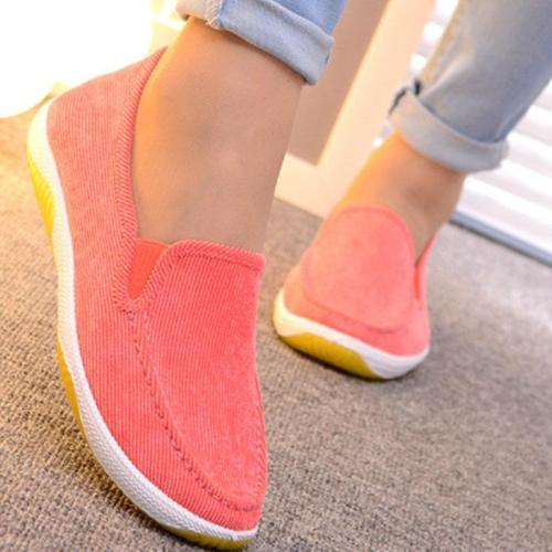 Flat Round Toe Slip On Loafers