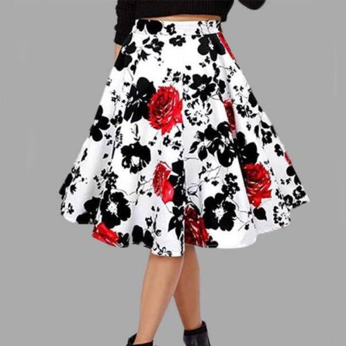 Floral Print Pastoral Casual Swing Women's Skirt