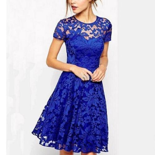 Lace Hollow Slim Banquet Evening Party Dress