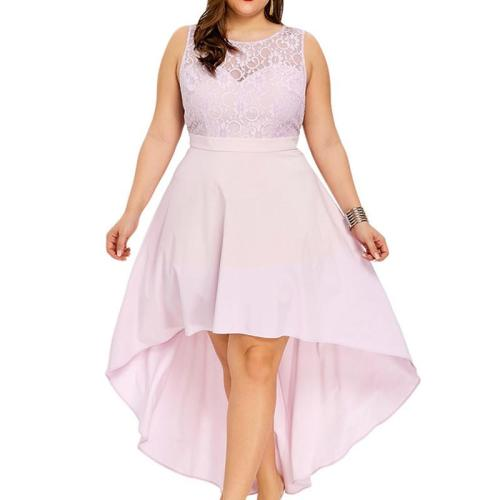 Lace Sleeveless Pink Evening Dresses