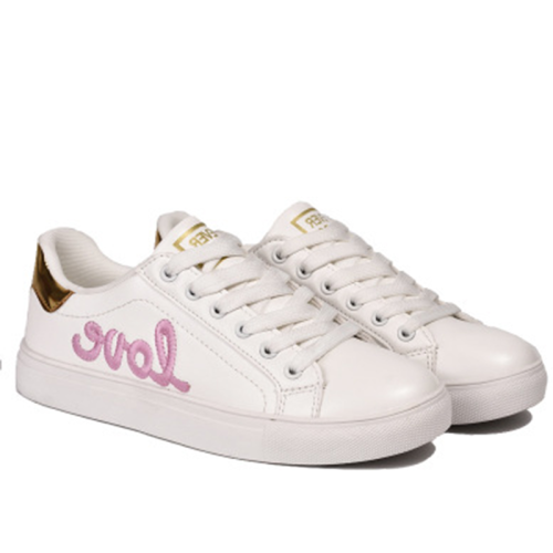 Love Round Toe Lace Up Casuals