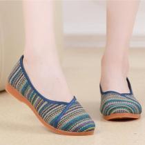 Flat Linen Round Toe Casual Comfort Flats