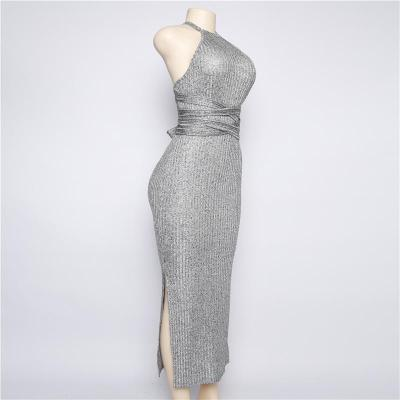 Halter Sleeveless Slim Evening Dress