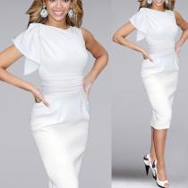 High-End Slim Fit Bow Bodycon Dress