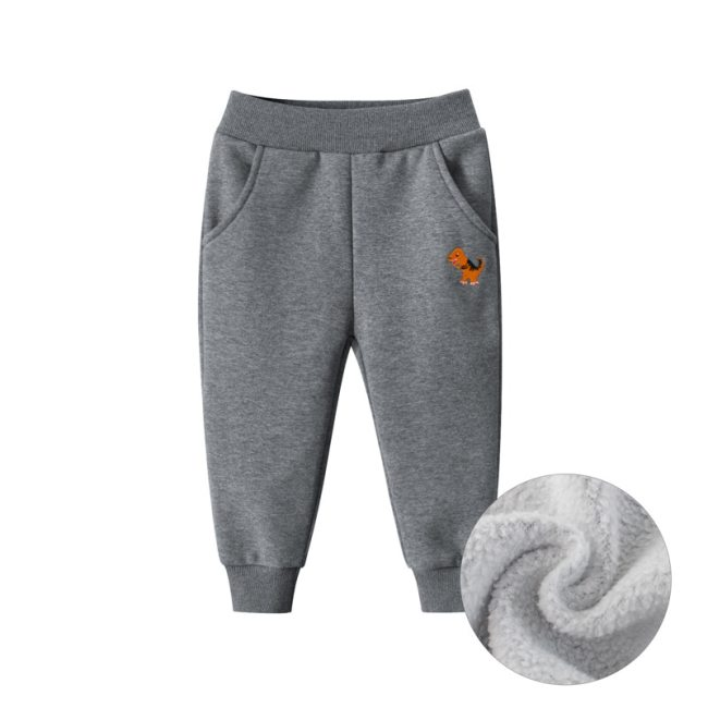 Boys Sport Pants Plus Velvet Cartoon Baby Pants