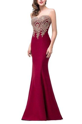 Formal See-Through Mermaid Evening Dress