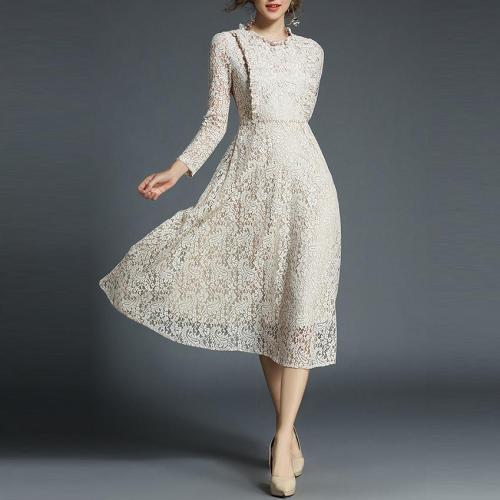 Elegant Vintage Lace Wedding Party Dress