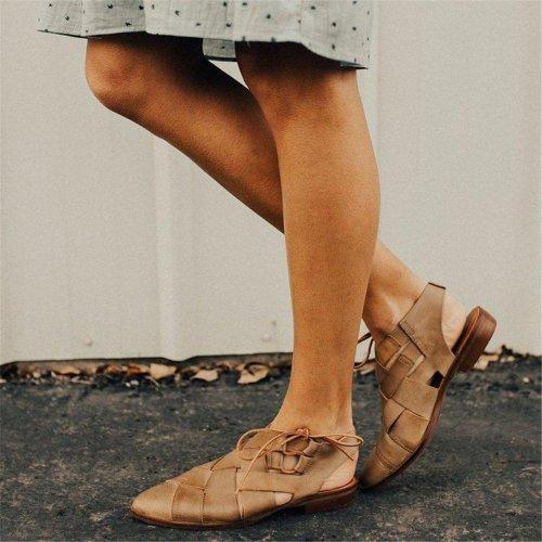 Knit Flat Heel Sandals