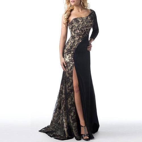 Sexy Lace Stitching Party Dress