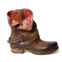 Fashion Rubber Square Heel Round Toe Zipper Boots