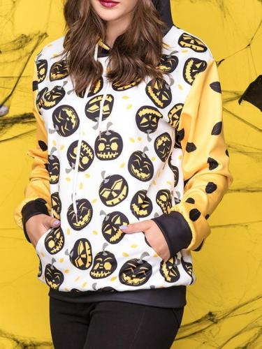Halloween Pumpkin Print Vest