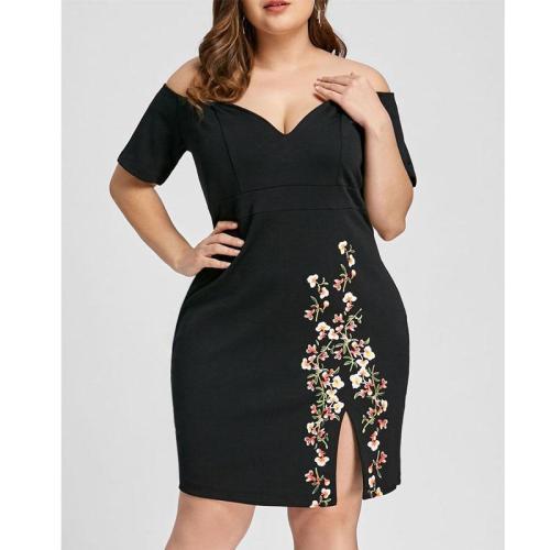 Sexy Off Shoulder Deep V Bodycon Dress