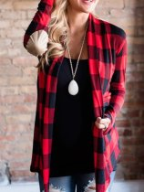 Plaid Printed Cardigans