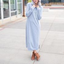 Autumn Long Sleeved Knit Maxi Dresses