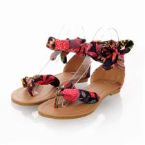 Bohemian Ribbon Flat Sandals