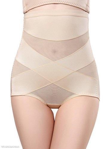 Cross Hollow Out Mesh Underwear Modeling Strap Belt Slimming Corset