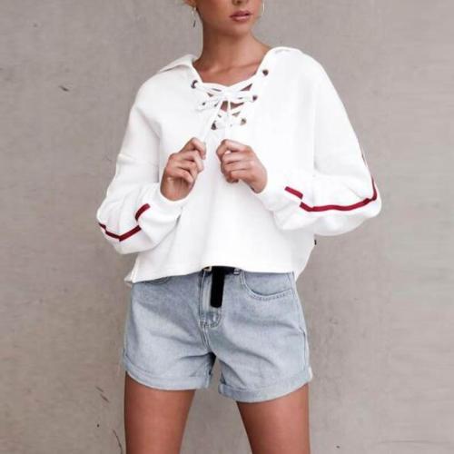 Fashion Short Length Long Sleeve Hoodies