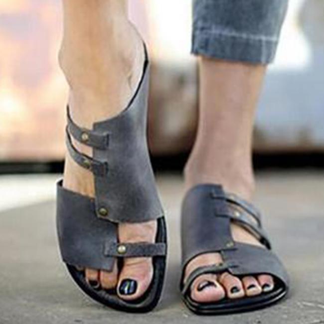 Plus Size Soft Comfortable Flat Sandals