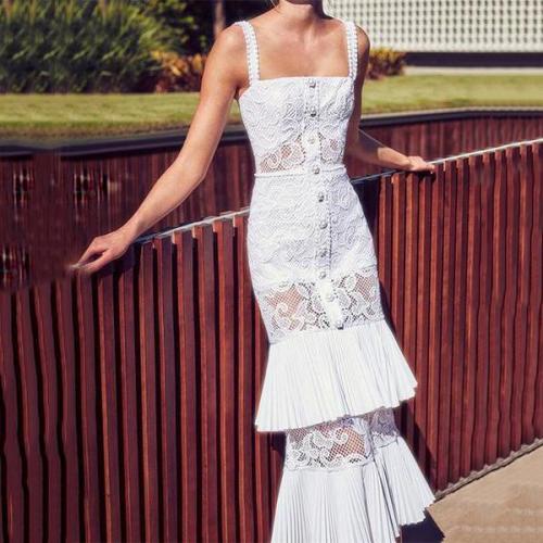 Fashion Hollow High Waist Sling Fishtail Skirts