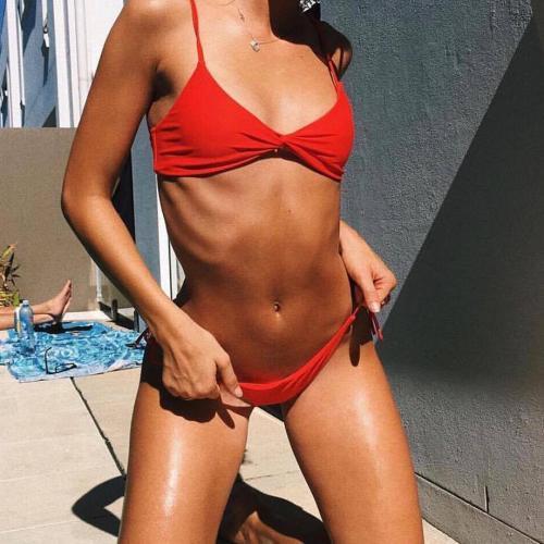 Pure Color Sexy Bikini Swimwear