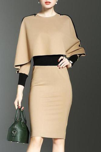 Two Way Color Block Bodycon Dress