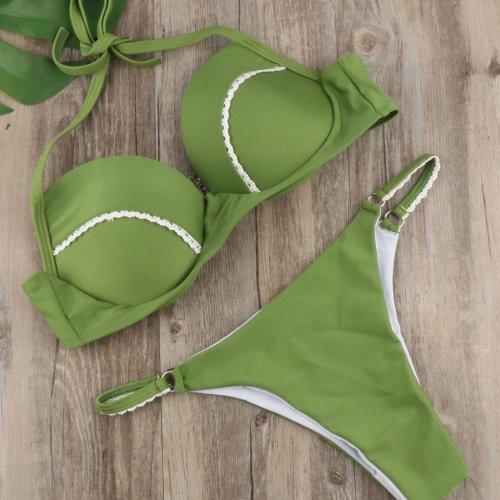 Green Sexy Halter Beach Bikini Swimwear