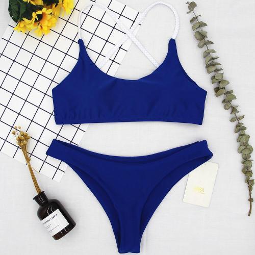 Blue Sexy Halter Bikini Swimwear