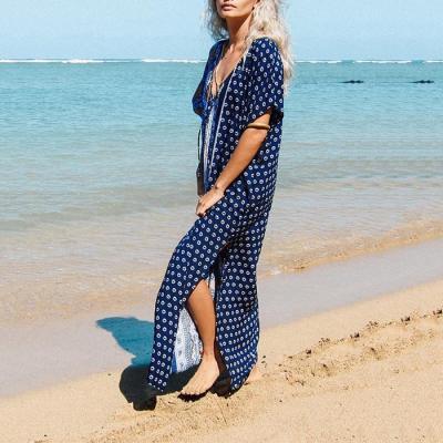 Seaside Holiday Dress Bikini Blouse Sun Protection Shirt