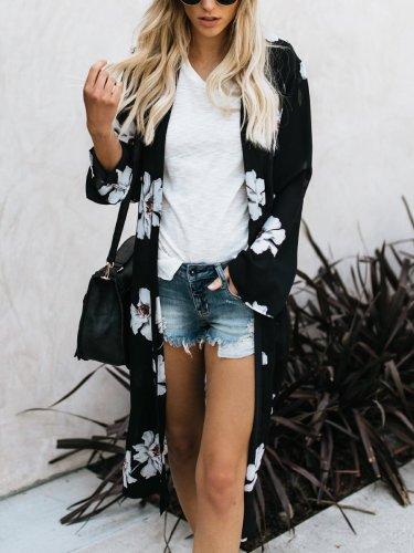 Floral Long Sleeve Cardigans
