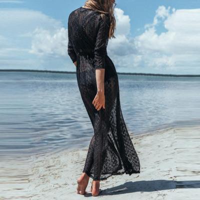 Lace Beach Cardigan Bikini Long Vacation Dress