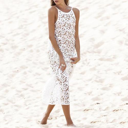 Hollow Maxi Dress Sun   Protection Beach Wear