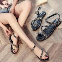 Rhinestone Open Toe Beach Shoes