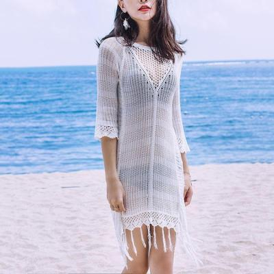 Sexy Round Collar Hollow Beachwear