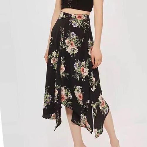 Bohemian Floral Print Pastoral Casual Swing Women's Skirt