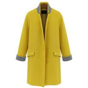 Lapel Flap Pocket Woolen Coat