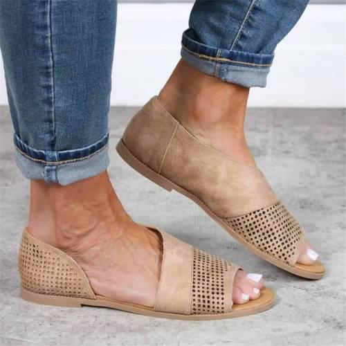 Fashion retro openwork flat sandals