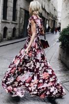 Fashion Floral Print Sleeveless Maxi Dress