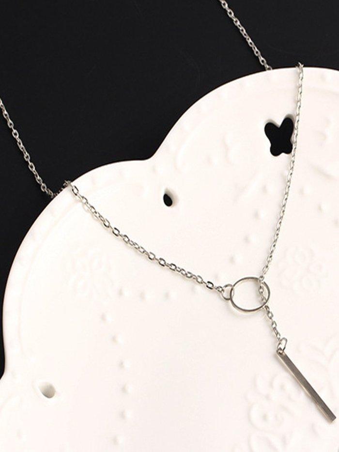 Simple Metal Hoop Short Necklace