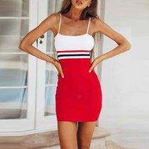 Spaghetti Strap Sleeveless Bodycon Mini Dress