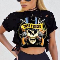 Fashion Summer Printed Round Neck T-Shirts