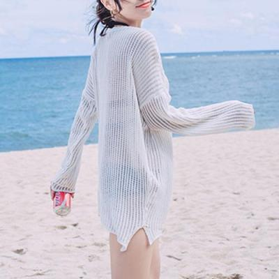 Long-Sleeved Sexy Bikini Blouse