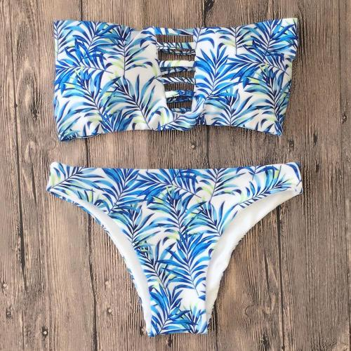 Sexy Printed Straps Bikini Swimsuit