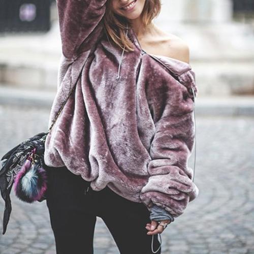 Fashion Hooded Zipper Lace Up Long Sleeve Hoodies