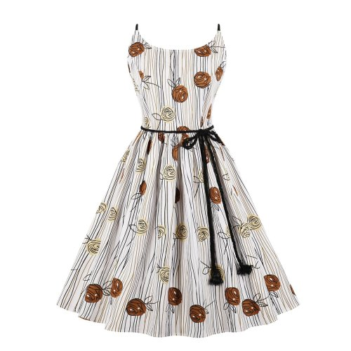 Lace Up Plus Size Casual Skater Dress