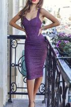 Sexy Sleeveless Pure Colour Slim Bodycon Dresses